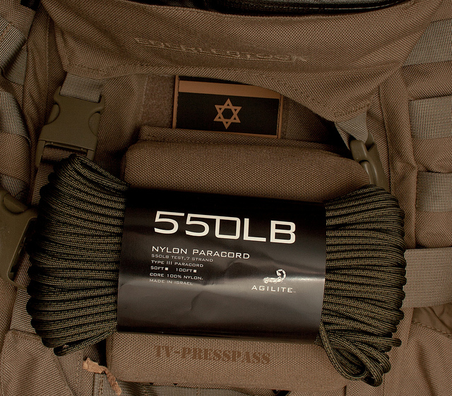 Israel-made 550 Paracord from AgiliteTactical