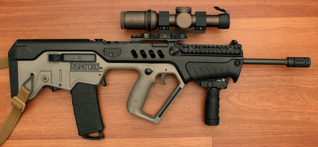 Tavor TAR21 with Vertical Grip and TREx Rail